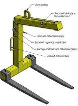 DOSTAWA GRATIS! 33969644 Zawiesie widłowe samopoziomujące (udźwig: 3 T, długość wideł: 800 mm)
