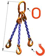 DOSTAWA GRATIS! 33971877 Zawiesie łańcuchowe trzycięgnowe klasy 10 miproSling KFW 4,0/2,8 (długość łańcucha: 1m, udźwig: 2,8-4 T, średnica łańcucha: 7 mm, wymiary ogniwa: 160x90 mm)