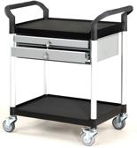 DOSTAWA GRATIS! 39955506 Wózek warsztatowy, 2 półki, 2 szuflady