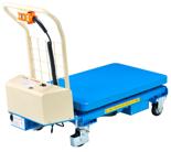 DOSTAWA GRATIS! 39955548 Wózek platformowy nożycowy elektryczny (wymiary platformy: 1010x520mm, udźwig: 300 kg, wysokość podnoszenia min/max: 445-1610 mm)