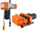 DOSTAWA GRATIS! 44367730 Wciągarka elektryczna + wózek jezdny elektryczny łańcuchowy (udźwig: 500/1T kg, maks. wys. podnoszenia: 6m)