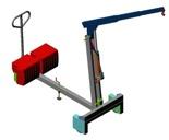 DOSTAWA GRATIS! 61764863 Żuraw hydrauliczny ręczny z przeciwwagą (udźwig: od 220 do 500 kg)