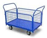 DOSTAWA GRATIS! 62666879 Wózek platformowy osiatkowany (udźwig: 400 kg, wymiary platformy: 1180x670 mm)