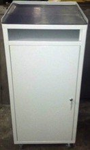 DOSTAWA GRATIS! 77157240 Szafka narzędziowa z pulpitem na kółkach, 1 półka regulowana (wymiary: 1200x500x500 mm)