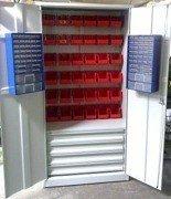 DOSTAWA GRATIS! 77157248 Szafa narzędziowa z pojemnikami, 4 szuflady, 38 pojemników (wymiary: 2000x900x500 mm)