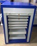 DOSTAWA GRATIS! 77157311 Szafa na laptopy z żaluzją, 7 szuflad (wymiary: 1000x700x500 mm)