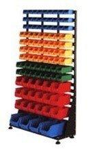 DOSTAWA GRATIS! 77157404 Regał z pojemnikami plastikowymi, 103 pojemniki (wymiary: 1670x1000x420 mm)
