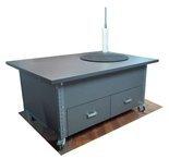 DOSTAWA GRATIS! 91073668 Stół na kółkach z kołem obrotowym (blat: 160x100 cm, wys: 78 cm)