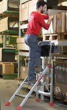 DOSTAWA GRATIS! 99675075 Drabina magazynowa / schody magazynowe FARAONE (wysokość robocza: 2,80m)