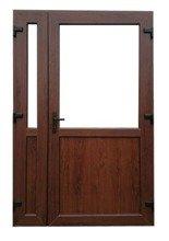Drzwi zewnętrzne sklepowe (kolor: orzech, strona: prawa, szerokość: 140 cm) 26269173