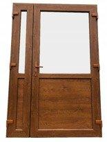 Drzwi zewnętrzne sklepowe (kolor: złoty dąb, strona: lewa, szerokość: 125 cm) 26269167