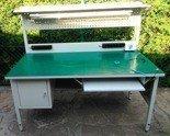 Stół montażowy z nadstawką, 1 szuflada (wymiary: 1200x600x750 mm) 77156978