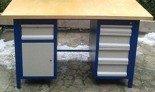 Stół warsztatowy, 5 szuflad, 1 szafka (wymiary: 1500x750x850 mm) 77156970