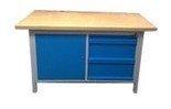 Stół warsztatowy z nadbudową, 3 szuflady, 1 szafka (wymiary: 1500x750x900 mm) 77156924