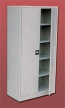 Szafa biurowa ekonomiczna, 2 drzwi, 4 półki regulowane (wymiary: 2000x800x440 mm) 77157075