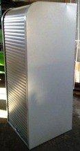 Szafa biurowa z żaluzją z otwieraną górą, 4 półki (wymiary: 1800x800x500 mm) 77157106