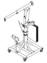 Tretok Żuraw hydrauliczny obrotowy ręczny (udźwig: od 300 do 520 kg) 61773972
