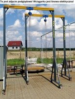 Wciągarka mobilna z wciągnikiem linowym elektrycznym (udźwig: 600 kg, wysokość całkowita: 3200mm, szerokość w prześwicie: 2500mm, wysokość podnoszenia: 2500mm) 50471614