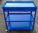 Wózek montażowy z szufladą, 3 półki (wymiary: 800x420x900 mm) 77170818