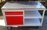 Wózek narzędziowy z szufladą, 2 półki (wymiary: 1250x620x900 mm) 77170822
