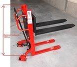 Wózek paletowy masztowy z szybką pompą, niski (udźwig: 1000 kg, wysokość podnoszenia: 0,8m, długość wideł: 1150 mm) 00077147
