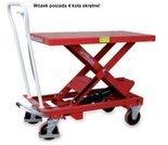 Wózek platformowy nożycowy, 4 koła skrętne (udźwig: 1000 kg, wymiary platformy: 1010x520 mm, wysokość podnoszenia min/max: 445-950 mm) 03077997