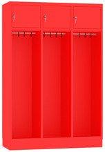 00150374 Szafa strażacka bez uchwytu na kask, 3 segmenty (wymiary: 1800x1200x480 mm)