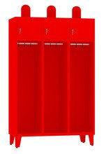 00150378 Szafa strażacka na nogach, 3 segmenty (wymiary: 1860x1200x480 mm)