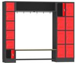 00150580 Zestaw szatniowy skrytkowy, 14 skrytek (wymiary: 1950x2294x480 mm)