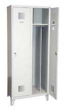 99551946 Szafka ubraniowa 0,5mm na nóżkach, 2 drzwi, zamek cylindryczny zamykany w 3 pukntach (wymiary: 1940x800x500 mm)