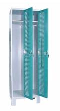 99552211 Szafka ubraniowa perforowana na nóżkach, zamek ryglujący drzwi w 3 punktach, 2 drzwi (wymiary: 1940x800x490 mm)