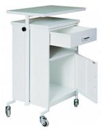 99552563 Szafka przyłóżkowa z blatem na kółkach, 1 szuflada, 1 drzwi (wymiary: 800x610x420 mm)