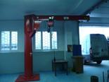 DOSTAWA GRATIS! 03058381 Żuraw obrot + wciągnik łańcuchowy elektryczny na wózku elektr. z  odporną na korozję (udźwig: 1000 kg, dł. ramienia: 4000 mm)