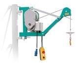 DOSTAWA GRATIS! 05668345 Wciągarka linowa budowlana z podnoszonym wysięgnikiem pod stałym kątem 45º (udźwig: 300 kg, wysokość podnoszenia: 30 m)