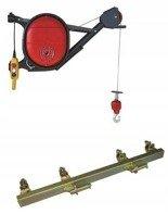 DOSTAWA GRATIS! 08172278 Wciągarka elektryczna linowa budowlana + Uchwyt do wciągarki linowej + lina 30m + sterowanie ręczne 1,5m (udźwig: 325 kg)