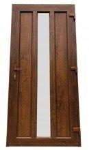 DOSTAWA GRATIS! 26271891 Drzwi zewnętrzne wejściowe (kolor: złoty dąb, strona: prawa, szerokość: 100 cm)