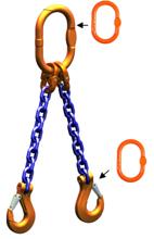DOSTAWA GRATIS! 33948219 Zawiesie łańcuchowe dwucięgnowe klasy 10 miproSling AS 14,0/10,0 (długość łańcucha: 1m, udźwig: 10-14 T, średnica łańcucha: 16 mm, wymiary ogniwa: 200x110 mm)