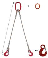 DOSTAWA GRATIS! 33948372 Zawiesie linowe dwucięgnowe miproSling HE 47,0/33,5 (długość liny: 1m, udźwig: 33,5-47 T, średnica liny: 56 mm, wymiary ogniwa: 400x200 mm)