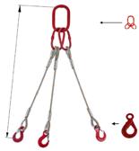 DOSTAWA GRATIS! 33948432 Zawiesie linowe trzycięgnowe miproSling LE 18,0/12,5 (długość liny: 1m, udźwig: 12,5-18 T, średnica liny: 28 mm, wymiary ogniwa: 275x150 mm)
