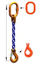 DOSTAWA GRATIS! 33971831 Zawiesie łańcuchowe jednocięgnowe klasy 10 miproSling KLHW 4 (długość łańcucha: 1m, udźwig: 4 T, średnica łańcucha: 10 mm, wymiary ogniwa: 135x75 mm)