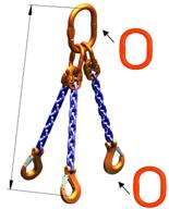 DOSTAWA GRATIS! 33971869 Zawiesie łańcuchowe trzycięgnowe klasy 10 miproSling A8W 5,3/3,75 (długość łańcucha: 1m, udźwig: 3,75-5,3 T, średnica łańcucha: 8 mm, wymiary ogniwa: 160x90 mm)