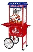 DOSTAWA GRATIS! 45670651 Maszyna do popcornu z wózkiem, amerykański design Royal Catering (moc: 1600W, wydajność: 5 - 6 kg/h)