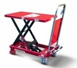 DOSTAWA GRATIS! 62666889 Wózek platformowy nożycowy (udźwig: 150 kg, wymiary platformy: 740x450 mm, wysokość podnoszenia min/max: 223-750 mm)