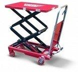 DOSTAWA GRATIS! 62666894 Wózek platformowy nożycowy (udźwig: 350 kg, wymiary platformy: 910x500 mm, wysokość podnoszenia min/max: 345-1310 mm)