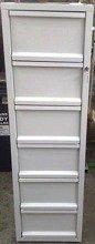 DOSTAWA GRATIS! 77157114 Szafa kartotekowa, 6 szuflad A4 (wymiary: 1510x435x530 mm)