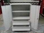DOSTAWA GRATIS! 77157200 Szafka narzędziowa, 2 szuflady i 2 półki (wymiary: 1250x800x500 mm)