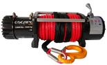 DOSTAWA GRATIS! 81874363 Wyciągarka Escape 12000 lbs 12,0 X [5443kg] z liną syntetyczną czerwoną 12V (średnica liny: 8mm, długość liny: 25m)
