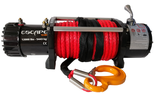 DOSTAWA GRATIS! 81874375 Wyciągarka Escape 12000 lbs 12,0 X [5443kg] z liną syntetyczną w oplocie z dużym hakiem 12V (średnica liny: 11mm, długość liny: 25m)