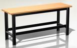 DOSTAWA GRATIS! 87853388 Stół warsztatowy podstawowy - blat obity blachą (wymiary: 1960x890x600 mm)