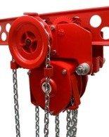 DOSTAWA GRATIS! 9588161 Wciągnik łańcuchowy przejezdny - z atestem ATEX (udźwig: 8,0 T, wysokość podnoszenia: 3m, zakres toru jeznego: 143-200 mm)